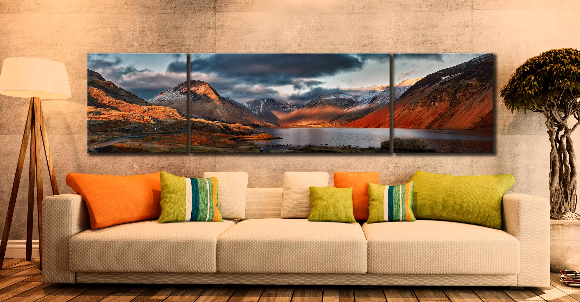 Wast Water Winter Sunlight - Canvas