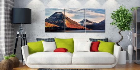 Yewbarrow and Great Gable - 3 Panel Canvas on Wall