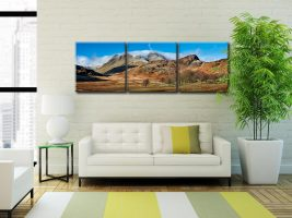 Last Snow On Langdales  - 3 Panel Canvas on Wall