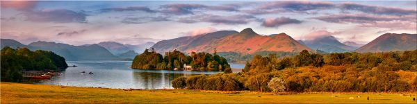 Derwent Water and Catbells in Morning Light - Canvas Print