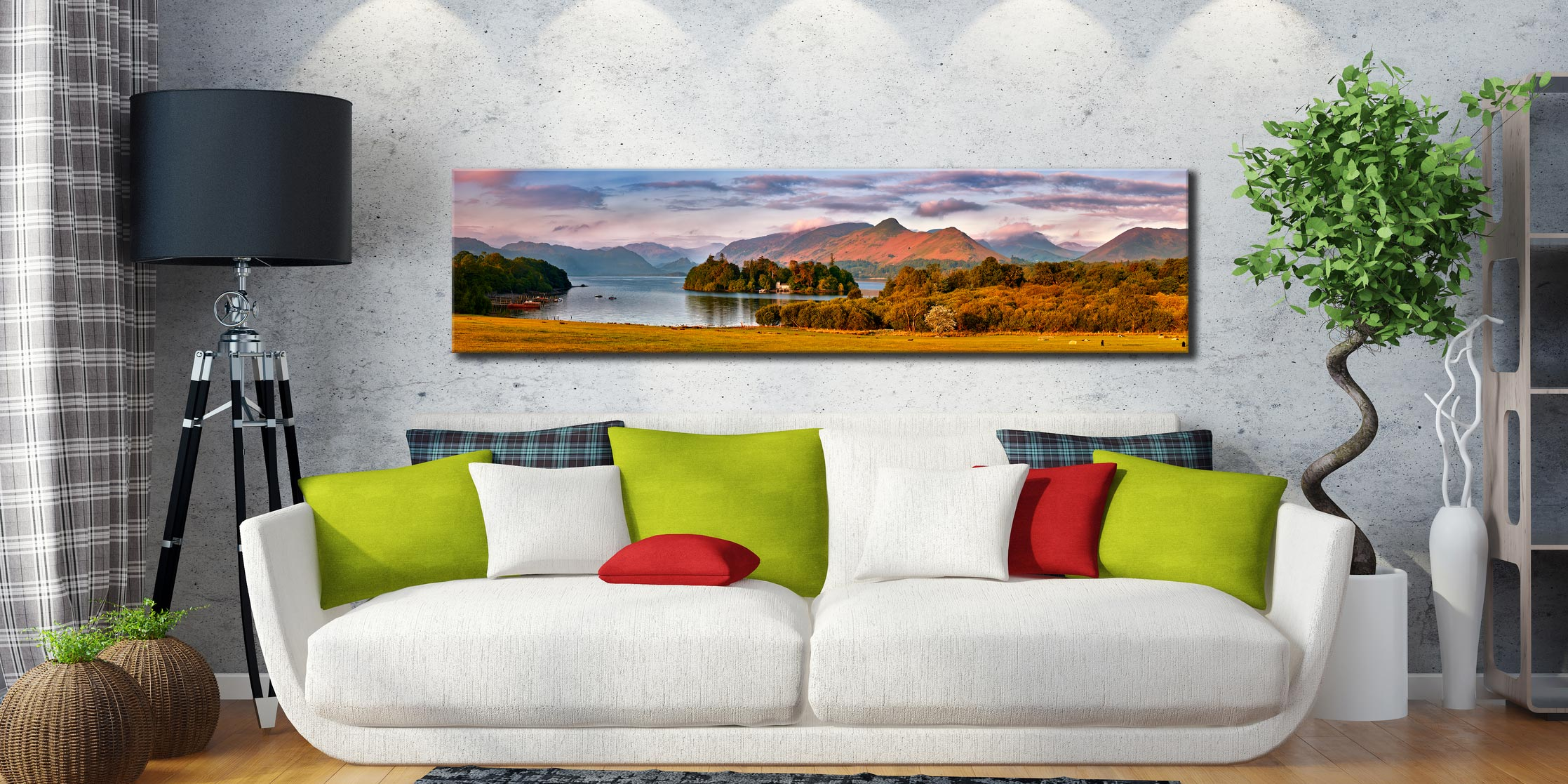 Derwent Water and Catbells in Morning Light - Lake District Canvas on Wall