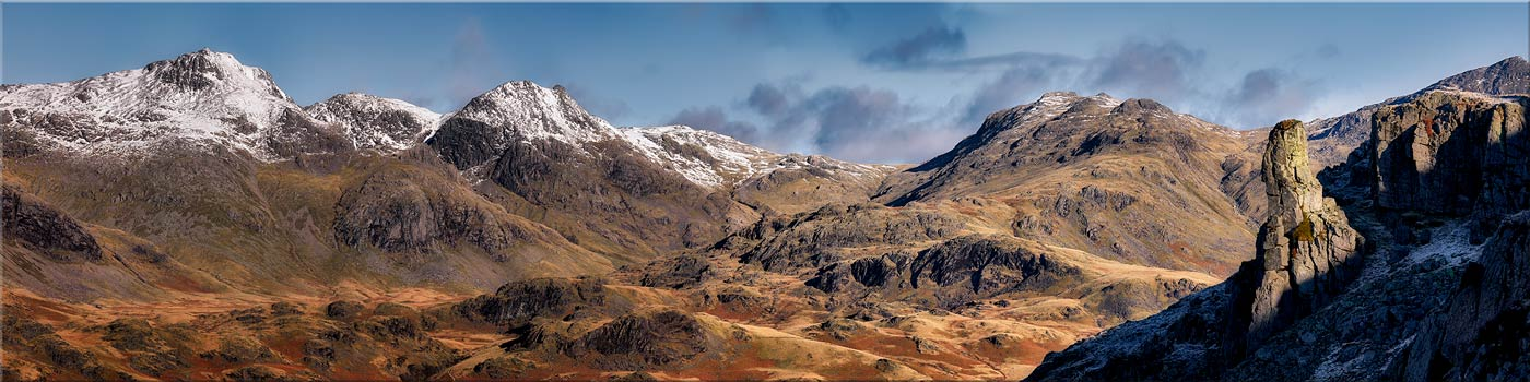 Eskdale Needle and Scafell Panorama - Canvas Print