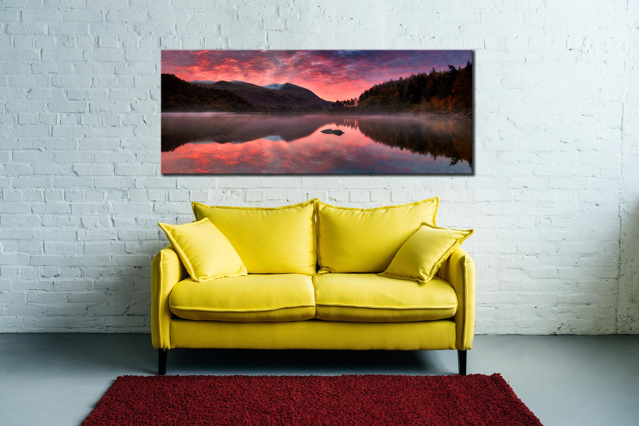 Thirlmere Autumn Sunrise - Canvas Print on Wall