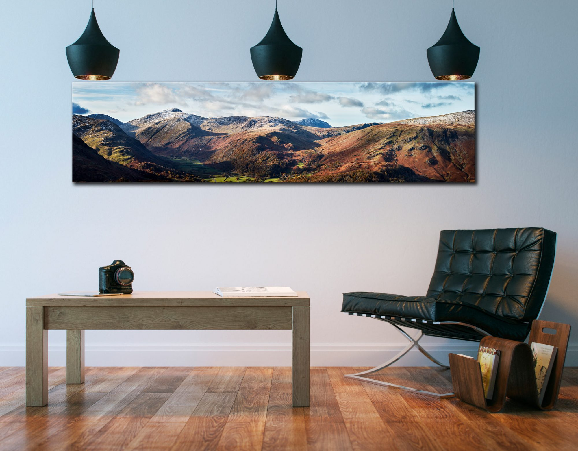 Borrowdale Mountains Panorama - Lake District Canvas on Wall