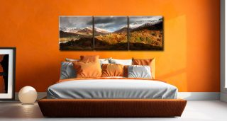 Autumn Fades Over Grasmere - 3 Panel Canvas on Wall