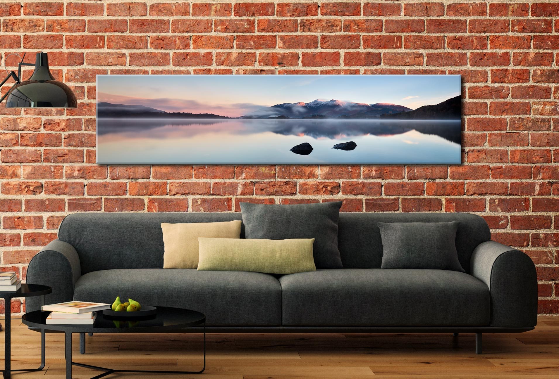 A New Day Dawns at Derwent Water - Lake District Canvas on Wall