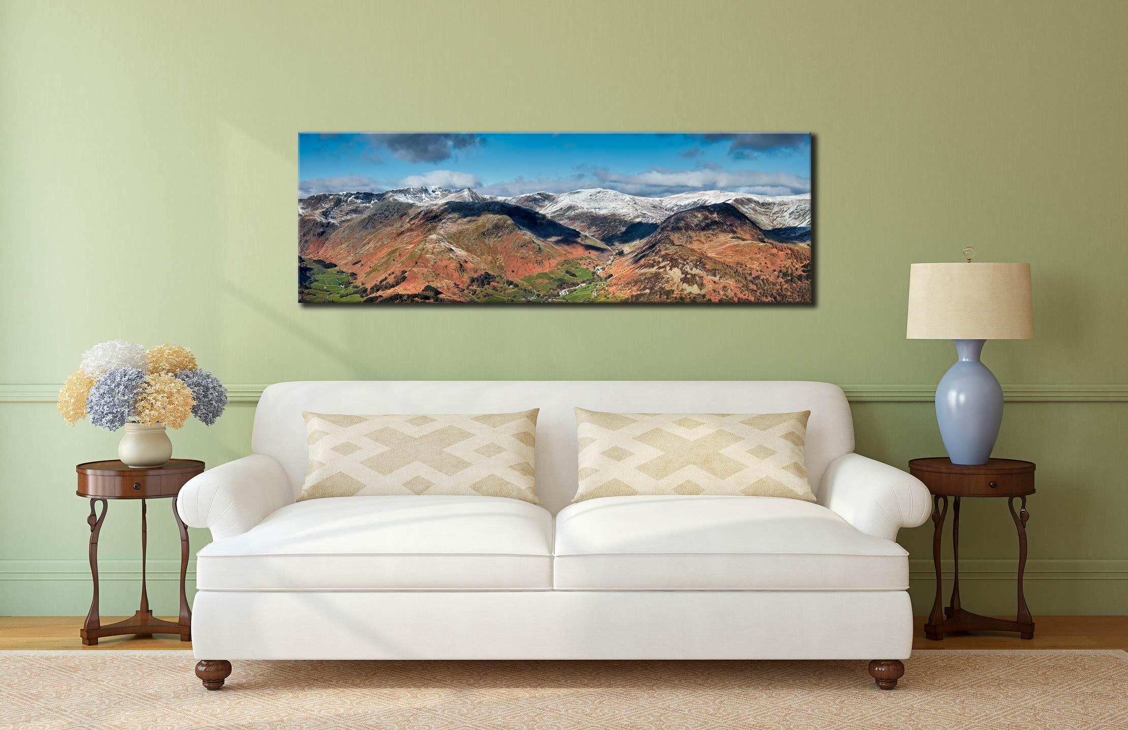 Glenridding Panorama - Canvas Print on Wall
