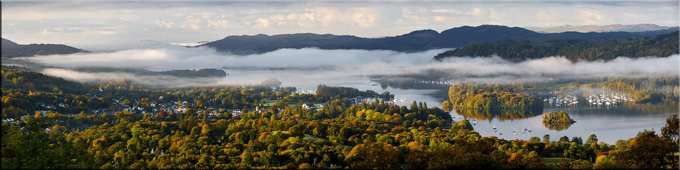 Bowness Morning Mists - Canvas Print
