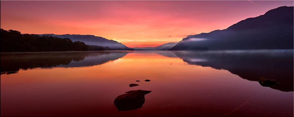 Ullswater Golden Sunrise - Canvas Print
