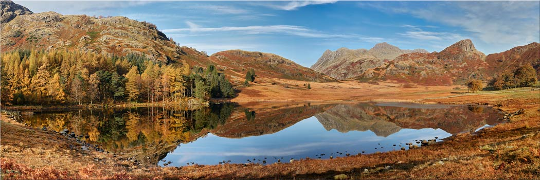 Blea Tarn Autumn Panorama - Canvas Print