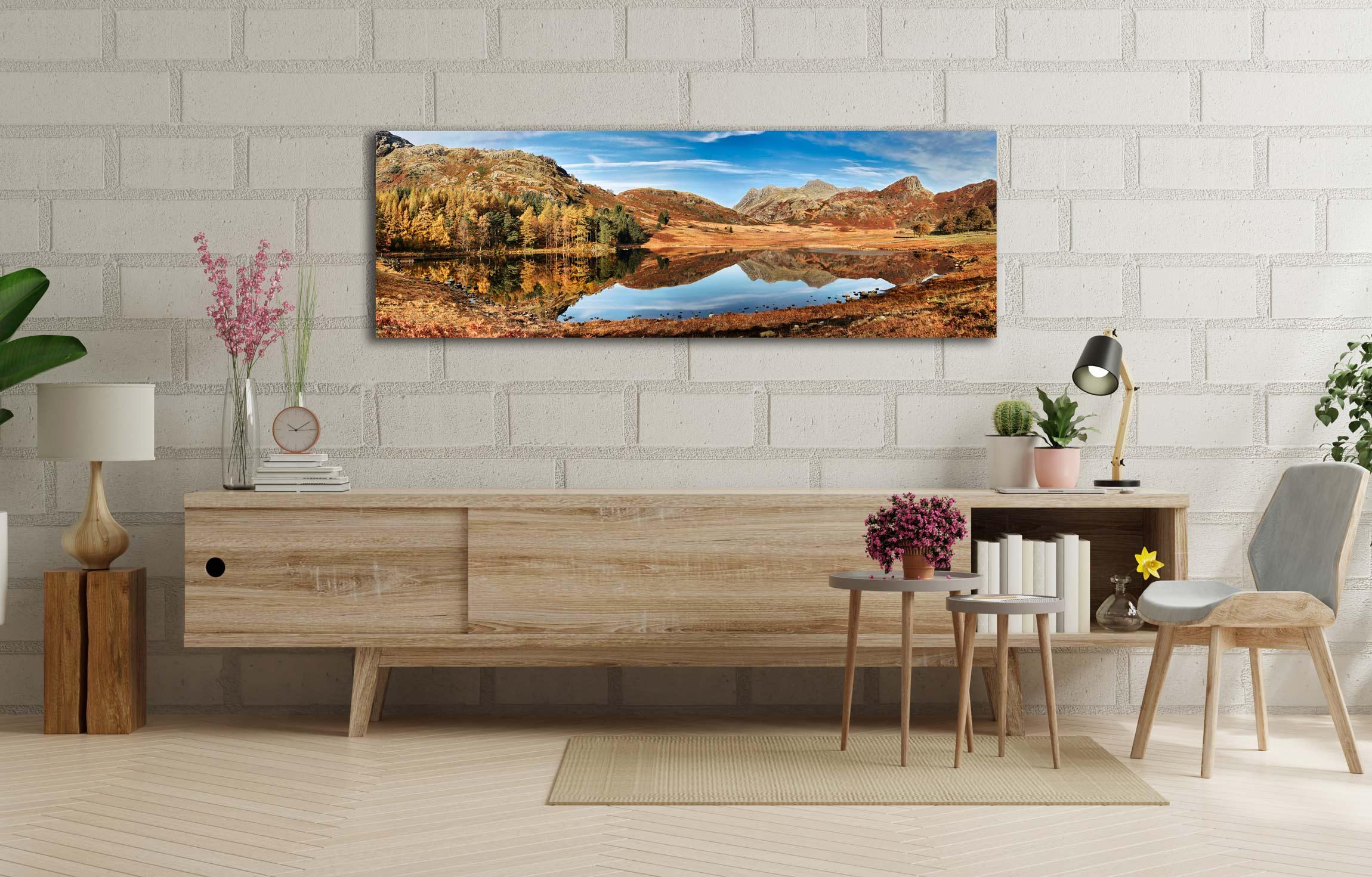 Blea Tarn Autumn Panorama - Lake District Canvas on Wall