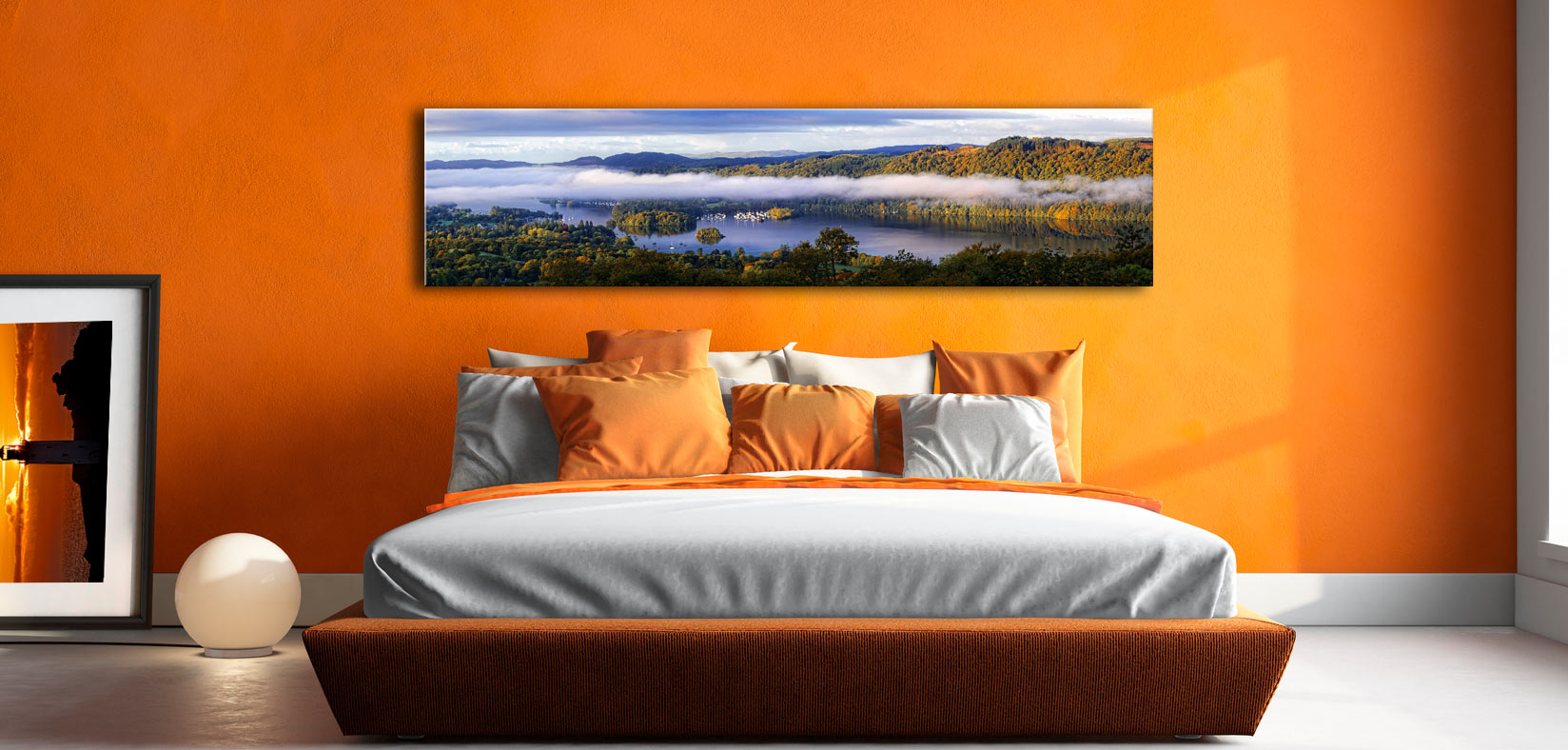 Bowness On Windermere Morning Mists - Lake District Canvas on Wall