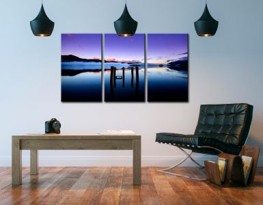 Serenity of Derwent Water - 3 Panel Canvas on Wall