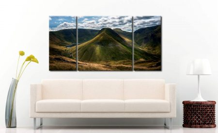 Gray Crag and High Street - 3 Panel Wide Centre Canvas on Wall