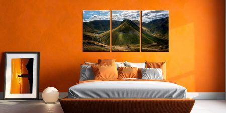 Gray Crag and High Street - 3 Panel Canvas on Wall