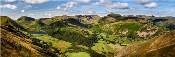 Deepdale and Dovedale Panorama - Lake District