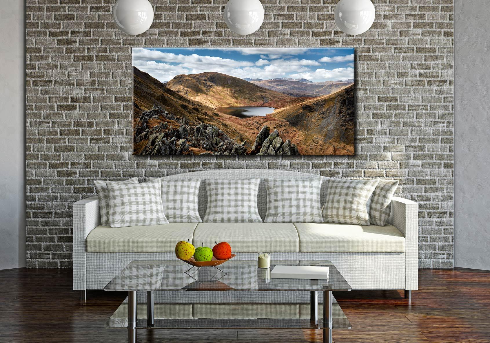 Grisedale Tarn Bowl - Canvas Print on Wall