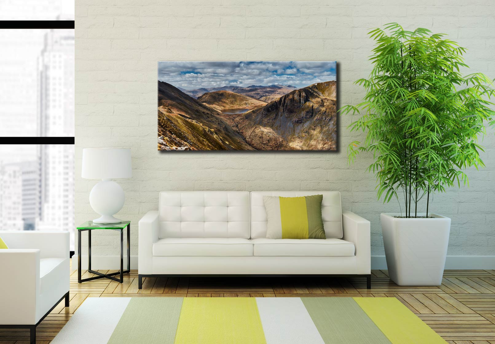 Grisedale Tarn Panorama - Canvas Print on Wall