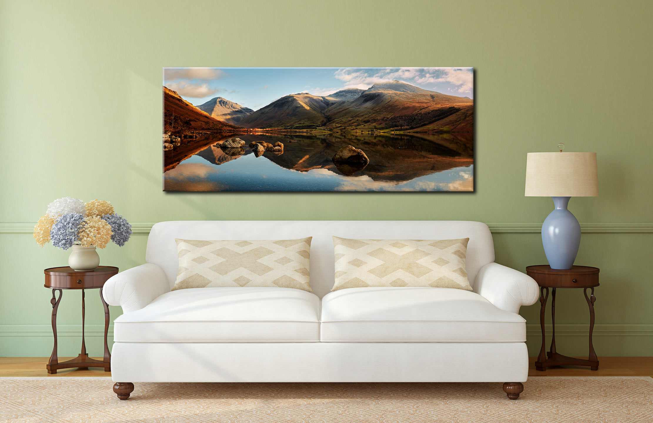 Morning Light on Scafell Pike - Canvas Print on Wall