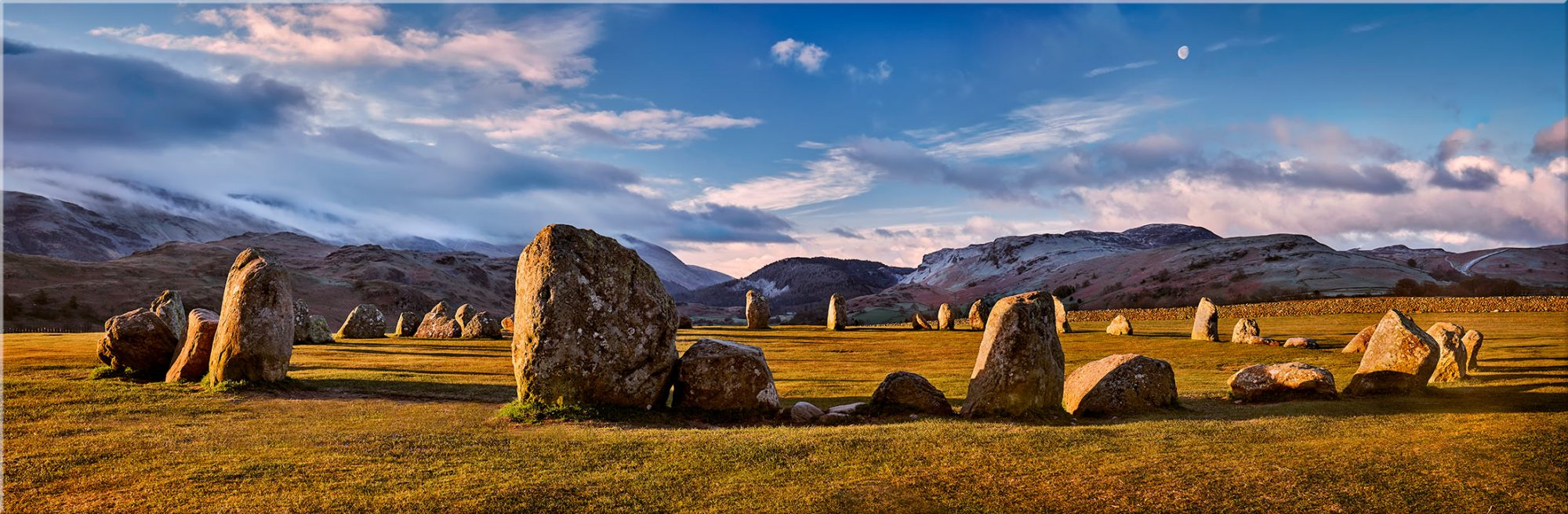 Morning Sunshine on Castlerigg - Canvas Print