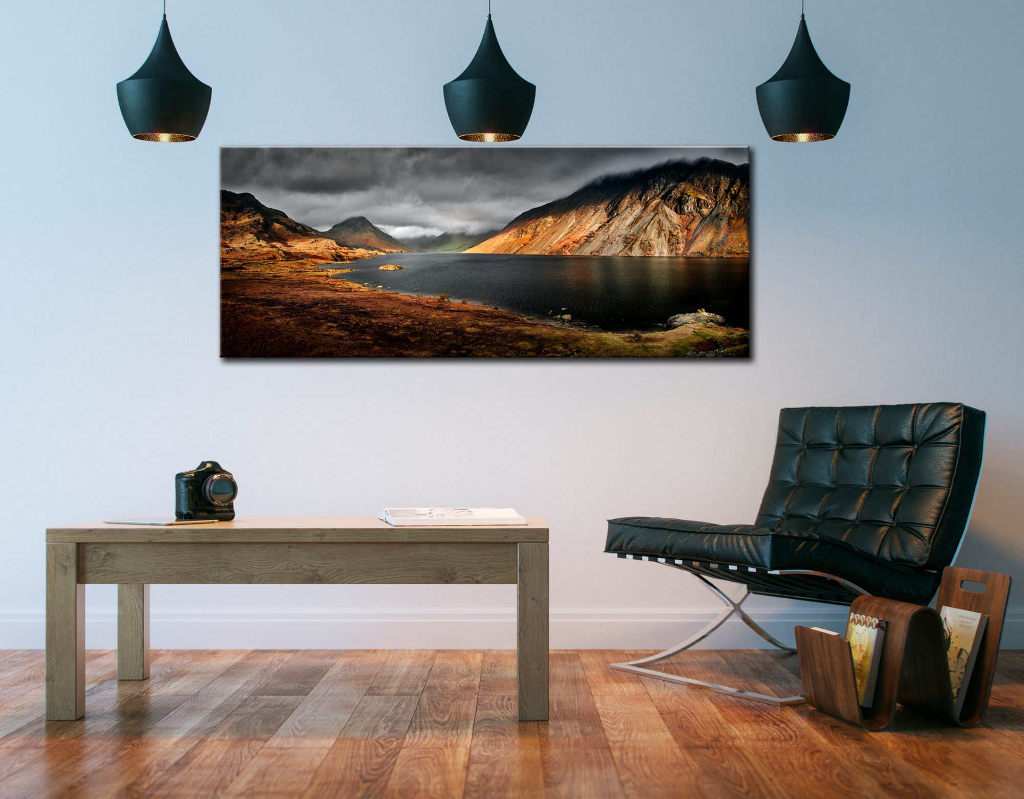 Sunlight on Wast Water - Canvas Print on Wall