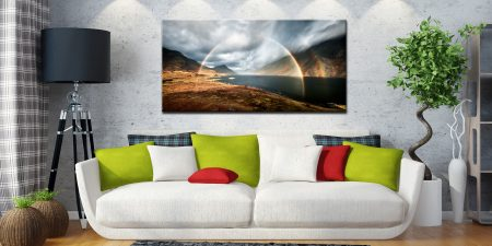 Wast Water Double Rainbow - Canvas Print on Wall