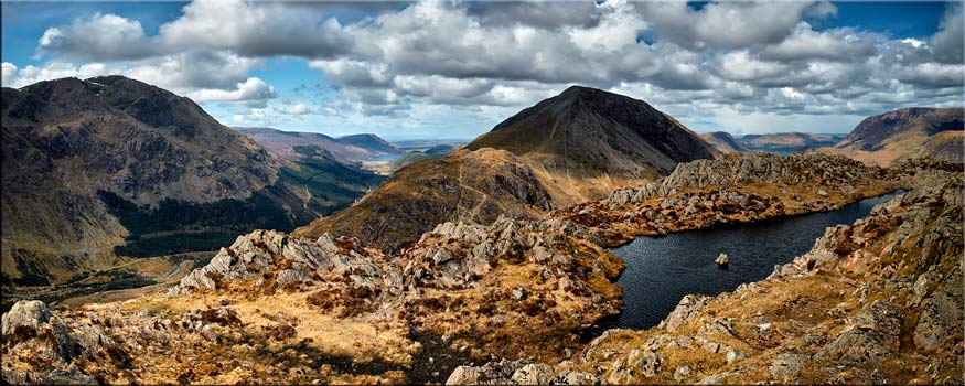 Pillar and High Crag from Haystacks - Canvas Print