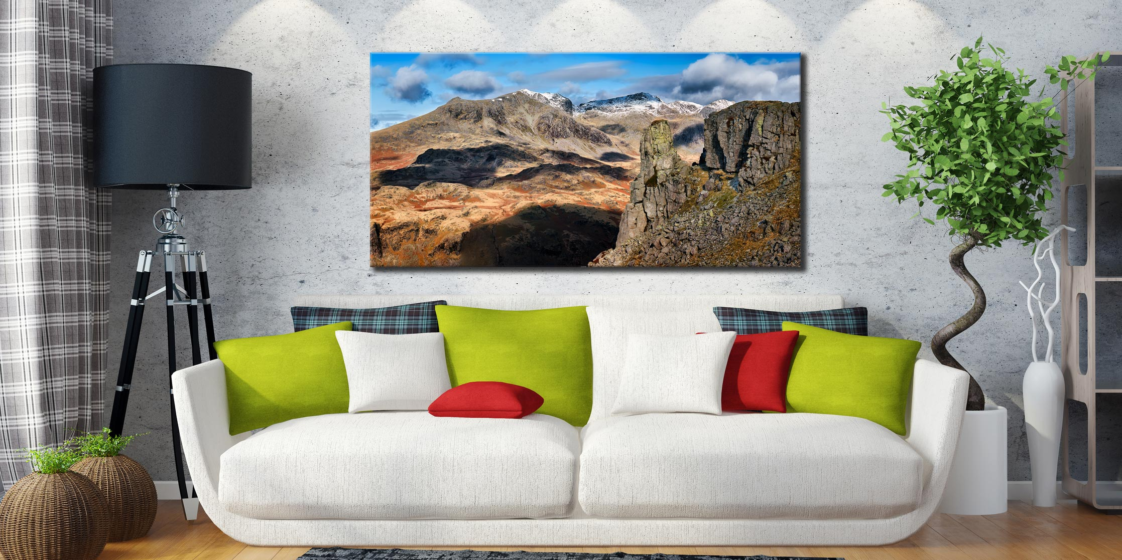 Eskdale Needle and Scafell Mountains - Canvas Print on Wall