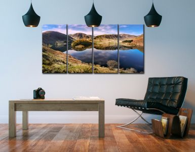 Calmness at Haweswater - 4 Panel Canvas on Wall