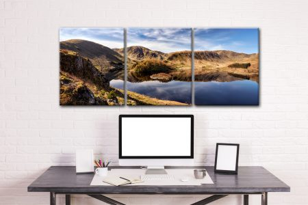 Spring Morning at Haweswater - 3 Panel Canvas on Wall