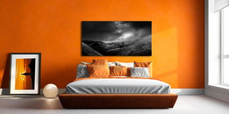 Dark Skies Over the Northern Fells - Canvas Print on Wall