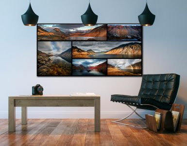 Wast Water Winter Collage - Canvas Print on Wall