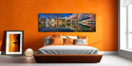 Summer Morning Buttermere  - 3 Panel Canvas on Wall