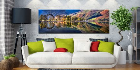 Summer Morning Buttermere  - Canvas Print on Wall