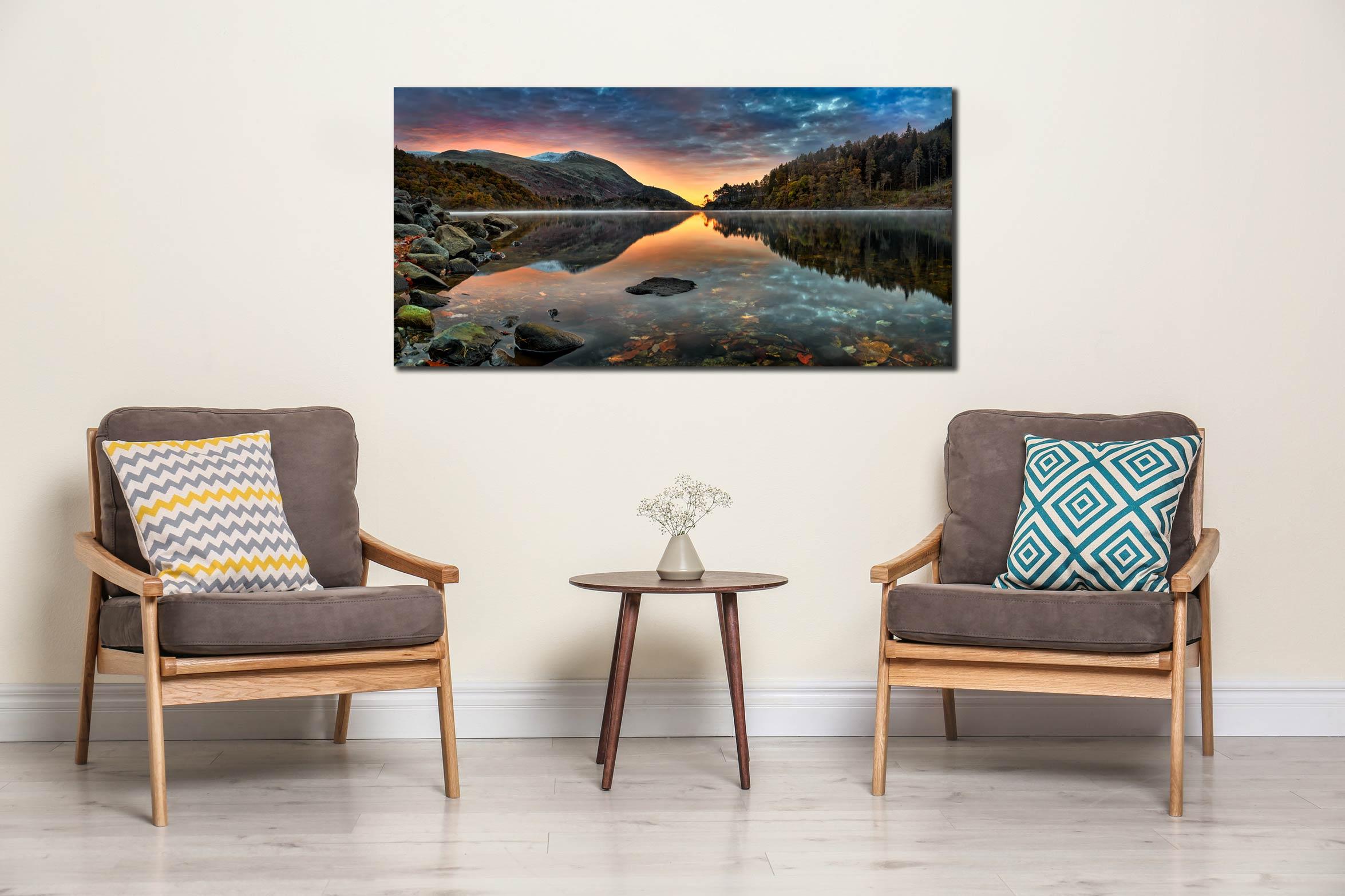 Thirlmere Autumn Dawn - Canvas Print on Wall