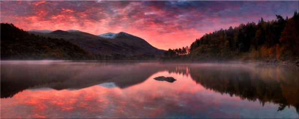 Thirlmere Autumn Sunrise - Canvas Print