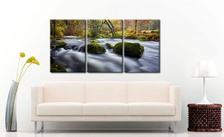 River Rothay in White Moss Woods - 3 Panel Canvas on Wall