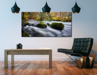 River Rothay in White Moss Woods - Canvas Print on Wall