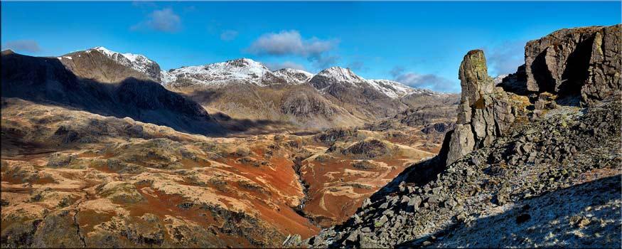 Eskdale Needle Winter Panorama - Lake District Print