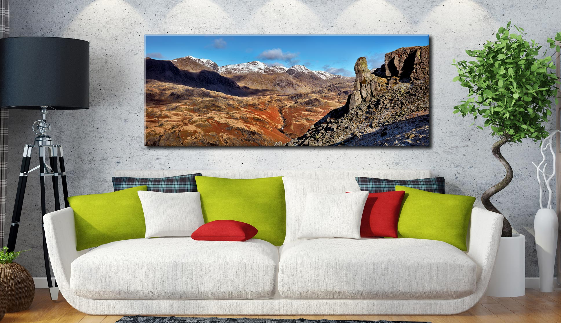 Eskdale Needle Winter Panorama - Canvas Print on Wall