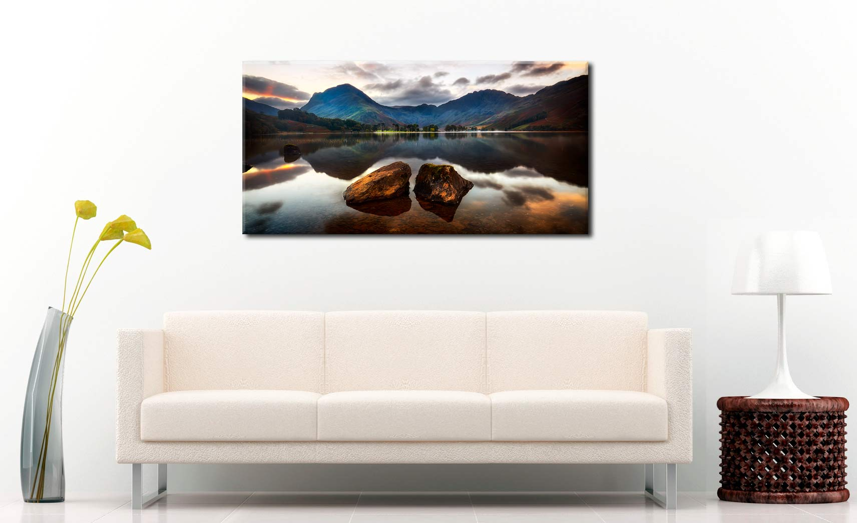 Buttermere Rocks - Canvas Print on Wall