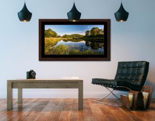 Summer Afternoon River Brathray - Framed Print with Mount on Wall