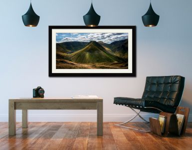 Gray Crag and High Street - Framed Print with Mount on Wall