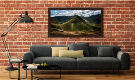 Gray Crag and High Street - Framed Print on Wall