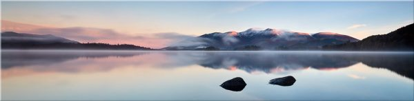 A New Day Dawns at Derwent Water - Canvas Print