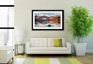 Late Autumn at Ashness Jetty - Framed Print on Wall