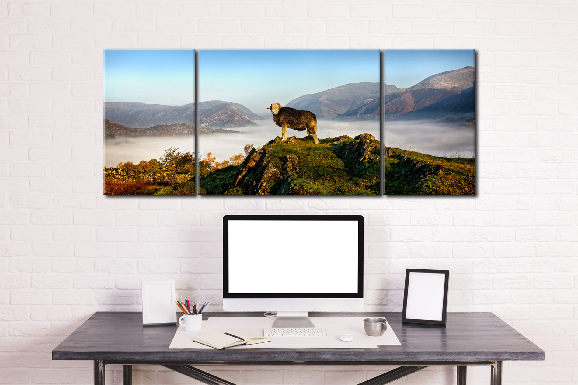 King of Cumbria - 3 Panel Wide Centre Canvas on Wall