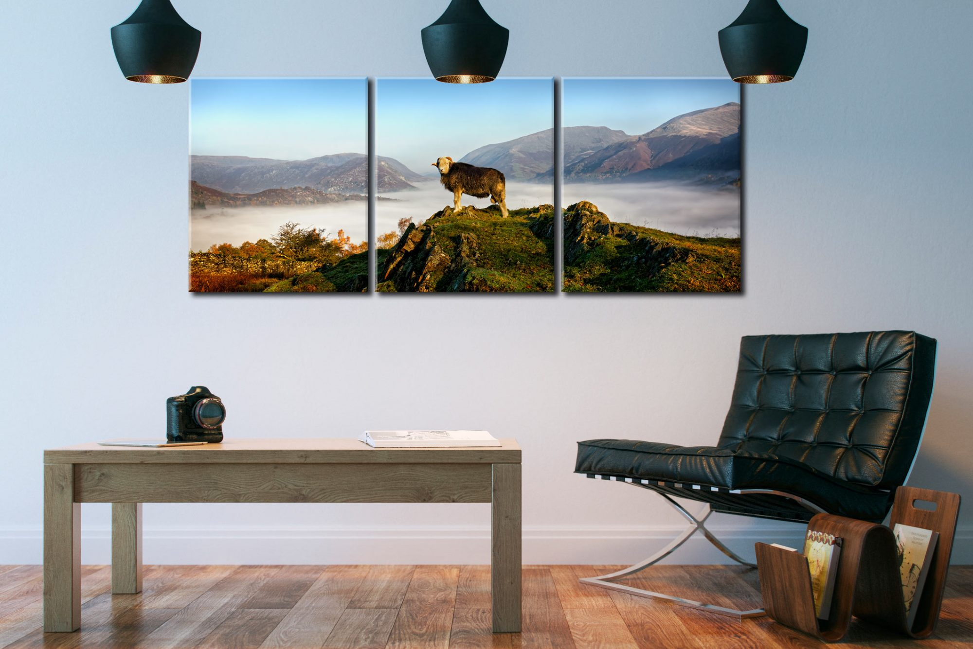 King of Cumbria - 3 Panel Canvas on Wall
