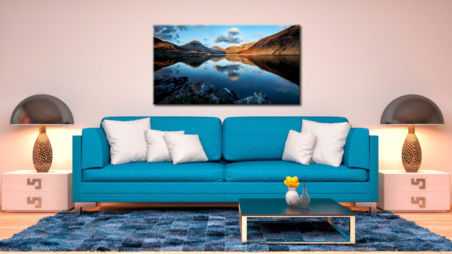 Golden Winter Sunlight Over Wast Water - Canvas Print on Wall