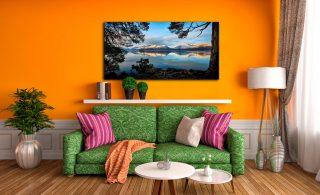 Roots and Mountains Derwent Water - Canvas Print on Wall